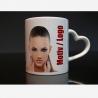 """Foto-Tassen """"Herz-Henkel"""" mit Ihrem Logo"""