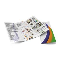 500 Faltflyer 6-seitig, DIN A lang mit UV-Lack beschichtet