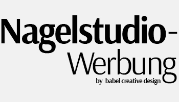 Nagelstudio-Werbung by Babel Creative Design